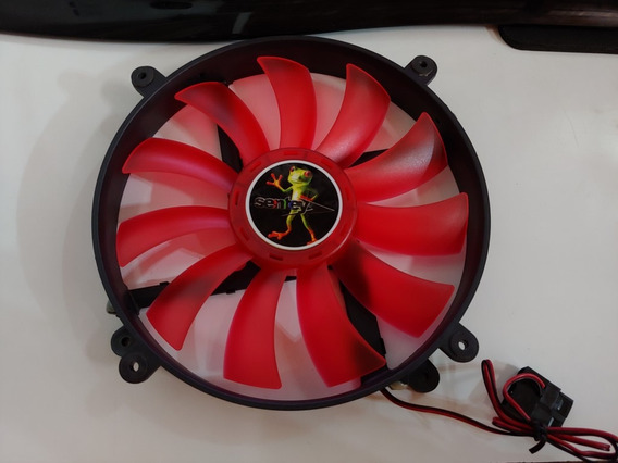 Cooler Fan Gabinete Sentey 20cm 200mm Con Led Rojos