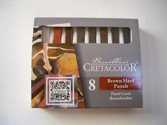 Set Pasteles Duros Cretacolor! Tizas Grises O Marrones