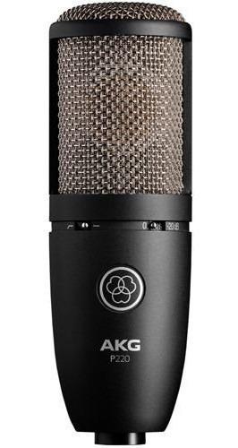 Microfone Akg P 220 Perception Condensador C/ Nf - Original!