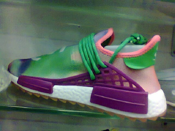 Tenis adidas Hu Pharrell Williams Verde E Rosa Nº41 Original