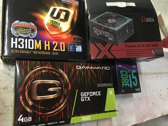 Computador Cpu I5 9400 16gb Geforce 1650 Ssd480gb Fonte 600w