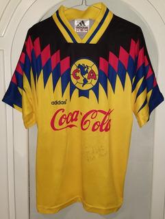 Jersey Aguilas Del America 1994 1995 Autografeado Mediana