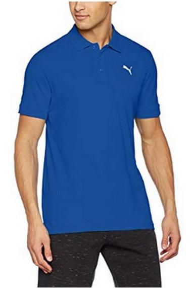 Puma Ess Pique Polo M Camisa Golf Azul Camiseta