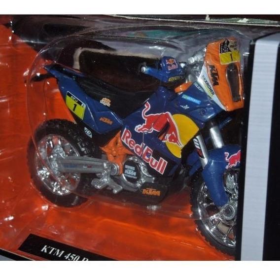 Moto Ktm 450 Rally Dakar Burago Coleccion Esc1:18 C/licencia