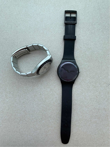 2 Relógios Swatch: Hijacker & Black Rebel