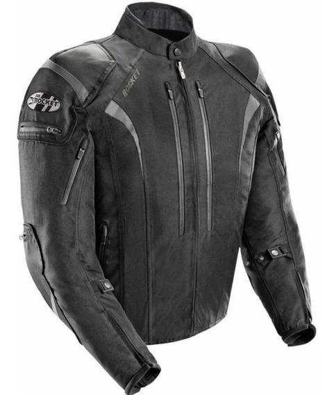 Campera Joe Rocket Atomic 5.0 Negra Moto Cordura Protección