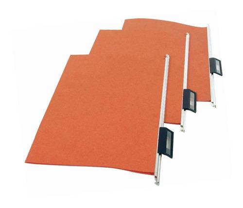 Imagen 1 de 2 de Carpetas Colgante Color Ladrillo Visor Oficio X100 Unidades