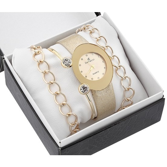 Relógio Pulso & Pulseira Para Feminino 1859