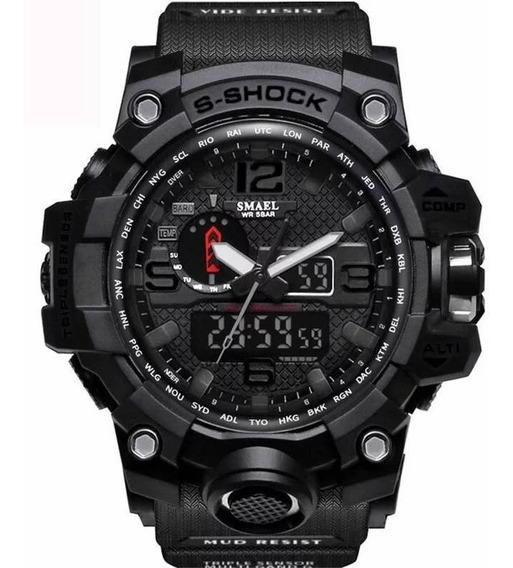 Relógio Masculino Smael 1545 Esportivo Tático Militar Oferta