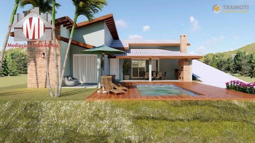 Linda Chácara Em Fase De Construção, Com 3 Dormitórios, Piscina, Ótima Localização, À Venda, 1000 M² Por R$ 395.000 - Zona Rural - Pinhalzinho/sp - Ch0820