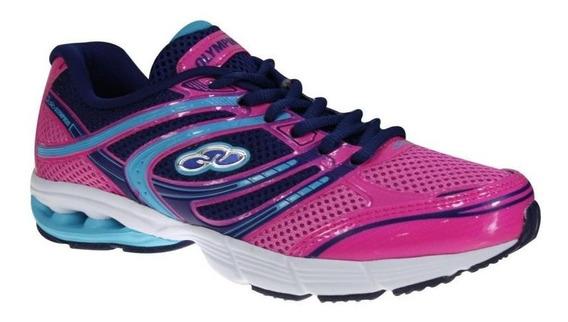 Tênis Feminino Olympikus Fine Pink Caminhada Corrida 20% Off