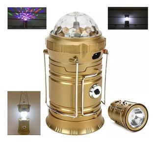 Lanterna De Led Retrátil Tipo Lampião Globo Giratório De Luz