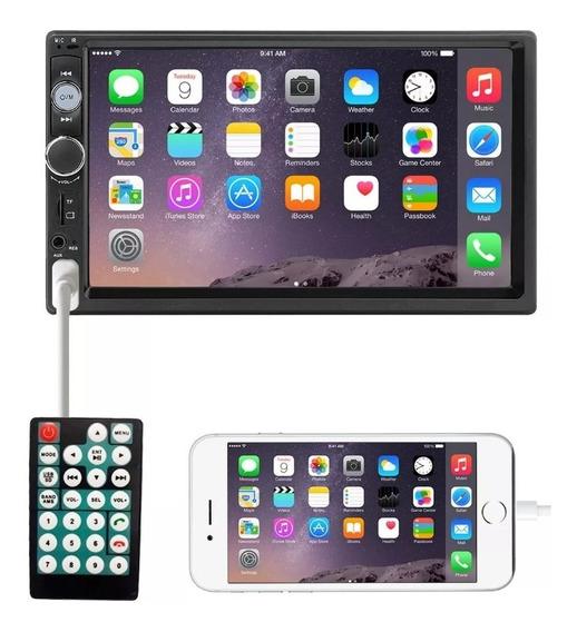 Central Multimidia Universal Mp5 Lcd 2din 7 Bluetooth Usb Fm