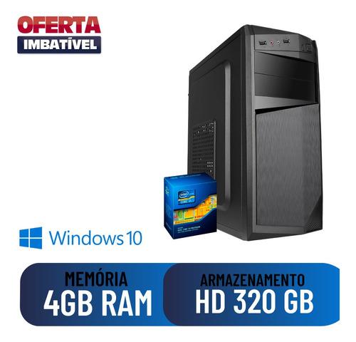 Imagem 1 de 2 de Computador Pc Cpu Desktop Home I5 4gb 320gb Win10 Dvd Hdmi !