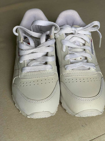 Zapatillas Blancas Reebook Cuero. Talle 31. Inmaculadas!