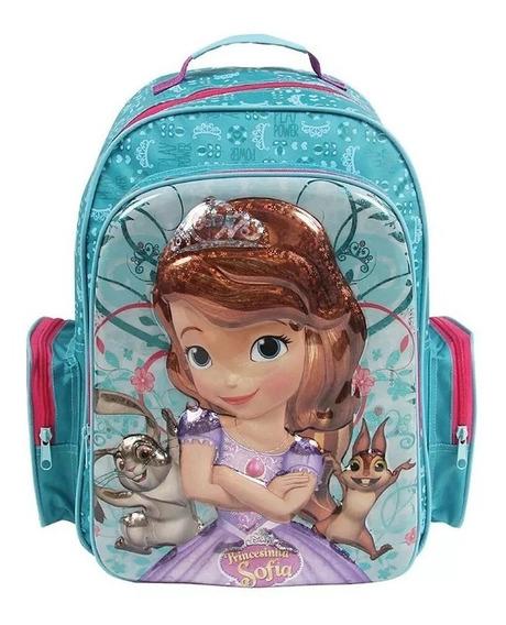 Mochila Infantil Princesa Sofia G Holográfica 3d - Dmw Original