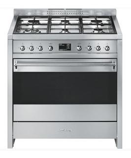 Cocina Smeg A1-9 Mixta Hornallas A Gas Horno Eléctrico 90cm