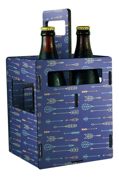 Porta 4 Latas O Botellas Chicas Porron De Cerveza - Flechas