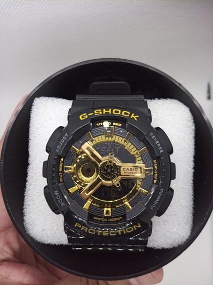 Relógio Automático Gshock Ga110 Preto/dourado.