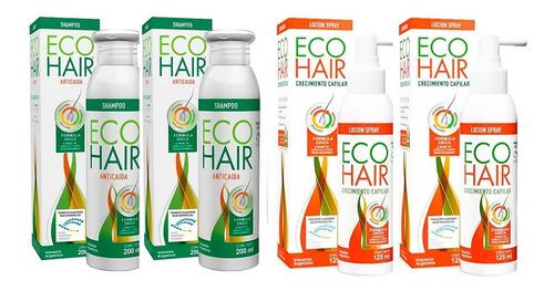 Imagen 1 de 5 de Combo Eco Hair Shampoo + Loción Crecimiento Cabello 2 C/u