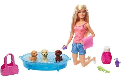 Barbie Set Cuidado De Cachorros Mattel Original Nueva