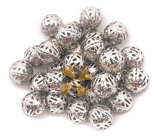 200 Esferas Decoracion Collares Cadenas Caladas 16 Mm