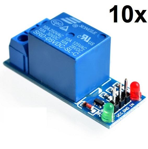 10x Módulo Relé 1 Canal 5v !!! Arduino !!!!