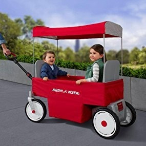 Wagon Radio Flyer Con Canopy Y A Bateria 12 Volt...exclusiv