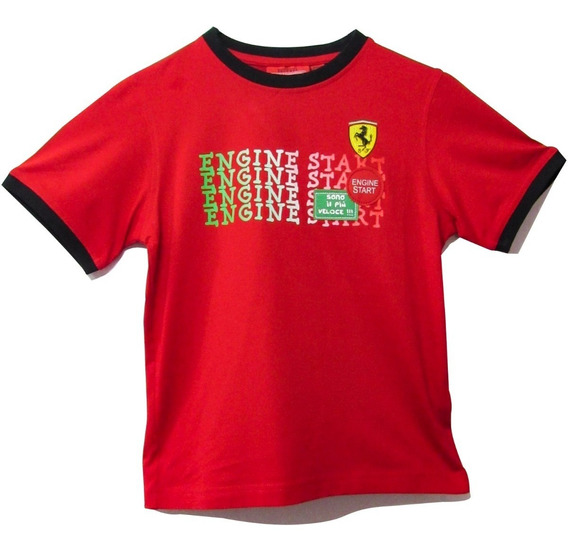 Camiseta De Niño Ferrari Engine Star