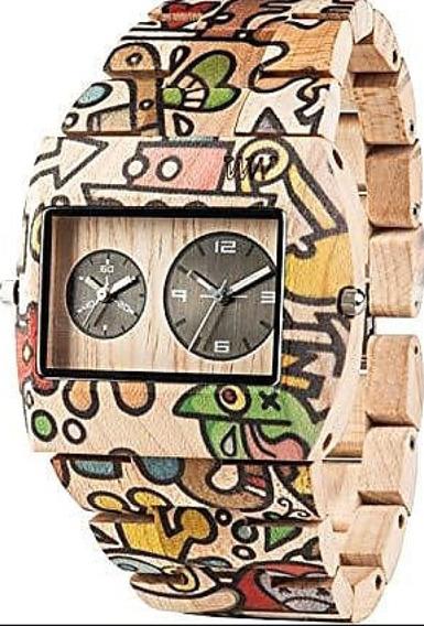 Relógio De Madeira Wewood Jupiter Dogboat - Wwj08 Raro