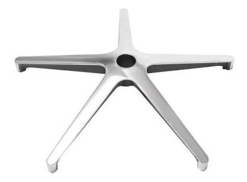 Imagen 1 de 2 de Base Estrella 5 Puntas Aluminio Para Sillas