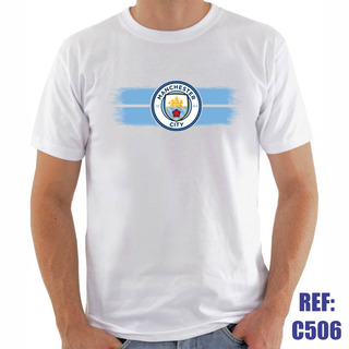 Camisa Manchester City Futebol Personalizada Com Nome