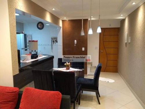 Parque Das Nações / Santo André - Apartamento Impecável Duplex Cobertura Com 3 Dormitórios, 3 Vagas, 190m² - Ad0010