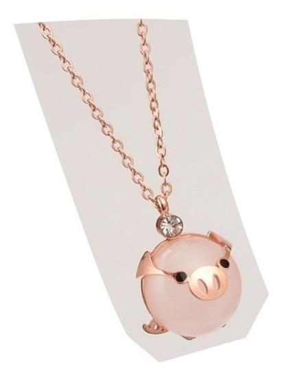 Collar Pig Cute Kawaii Cadena Con Dije Cerdito Puerquito E.g