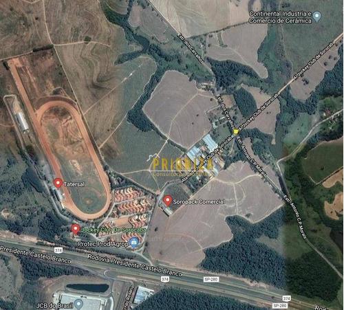 Imagem 1 de 1 de Terreno, 7928 M² - Venda Por R$ 1.982.000,00 Ou Aluguel Por R$ 15.800,00/mês - Cajuru - Sorocaba/sp - Te0055