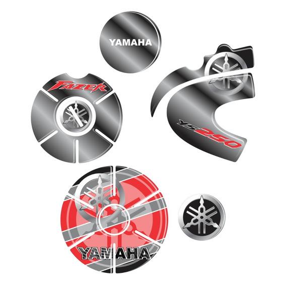 Kit Adesivo Protetor Motor Fazer 250 Ys Resinado