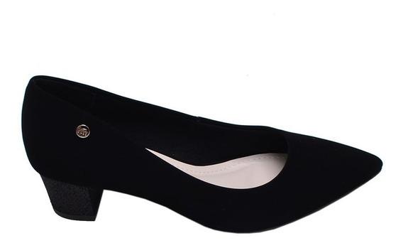 Sapato Feminino Salto Médio Bico Fino Via Marte Preto