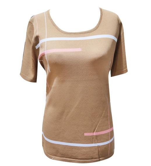 Remera Mujer Hilado Seda Camel Switch Sweaters - Miss Twidd