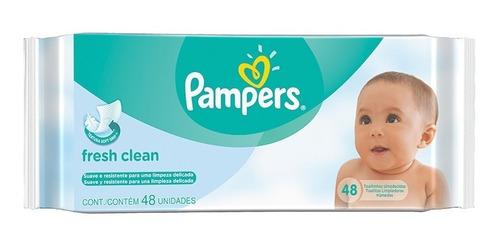 Pampers Babywipes Fresh Clean 48 Toallitas Humedas X 12 Paq