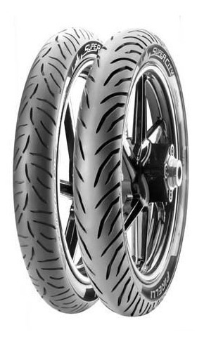 Par Pneu Fazer 150 Pirelli Super City 80/100-18 +90/90-18 Tl