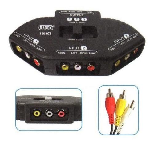 Imagen 1 de 1 de Selector Audio/video3vias (c/cables 130-075 Radox