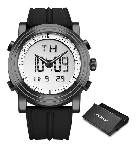 Relógio Sinobi 9368 Masculino Digital Led À Prova D