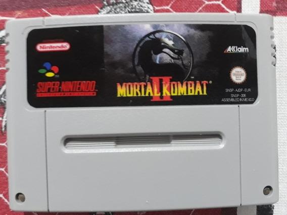 Mortal Kombat 2 Mais Top Gear 1 Cartucho Snes