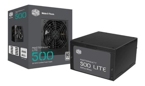 Fonte Masterwatt Lite Cooler Master 500w 80 Plus Pfc Ativo Mpx-5001-acaaw-wo