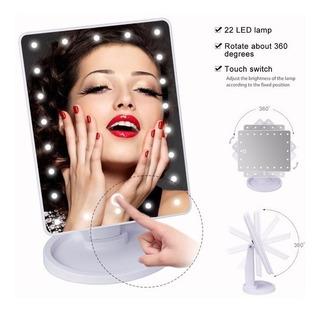 Espejo De Maquillaje Para Tocador Con Pantalla 22 Luces Led