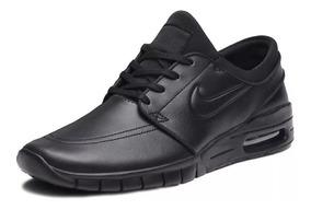 Tênis Nike Sb Stefan Janoski Max Black Skate Couro Original!