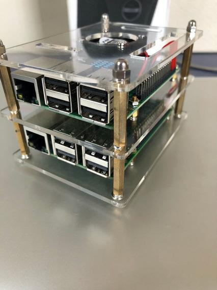 Raspberry Pi 3 Modelo B V1.2 (cluster) + Acrílico Cristal