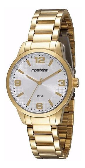 Relógio Feminino Aço Dourado Mondaine 78454lpmbda1 Original
