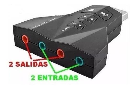 Sonido Audio 7.1 2 Entrada 2 Salida Microf Titan Belgrano