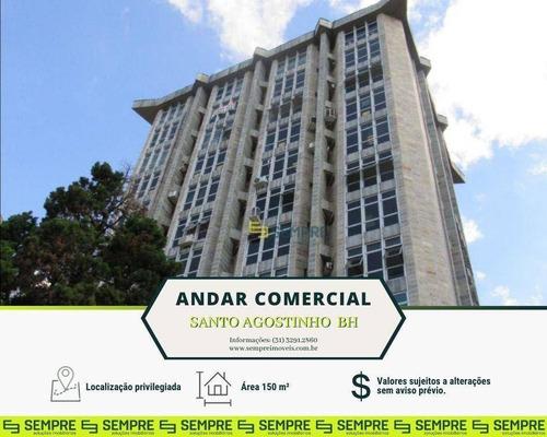 Imagem 1 de 30 de Andar-sala Para Alugar, 150 M² E 02 Vagas - Santo Agostinho - Belo Horizonte/mg - Ac0040